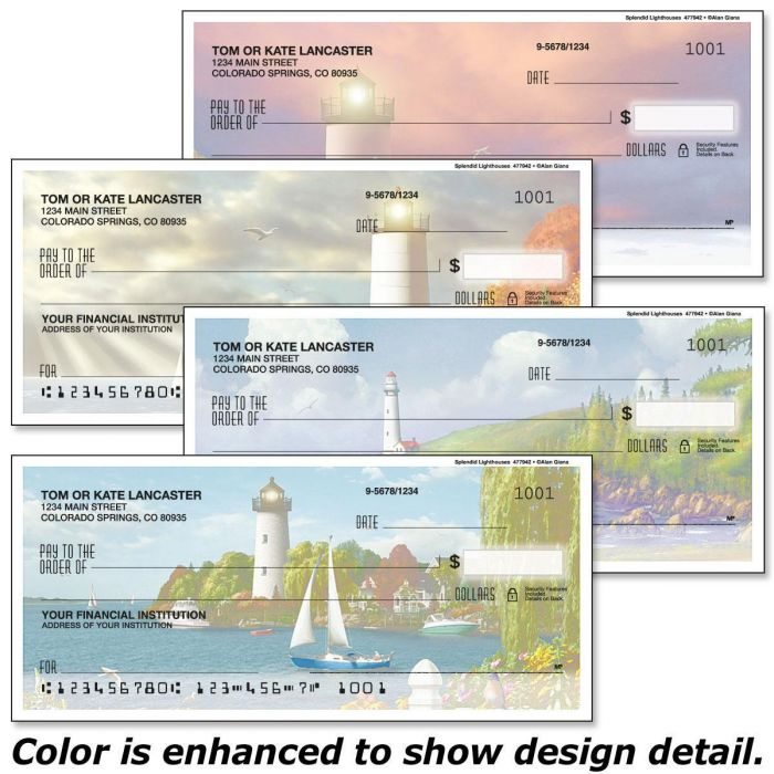 Splendid Lighthouses Single Checks