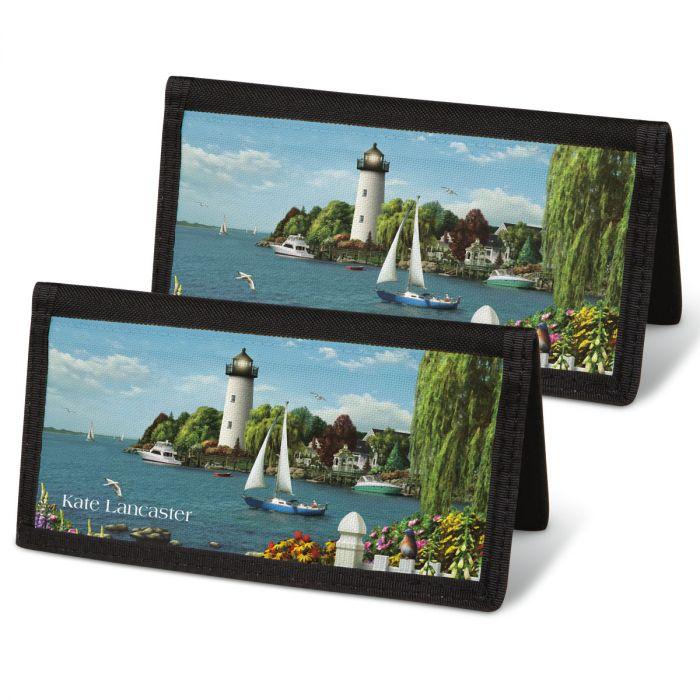 Splendid Lighthouses Checkbook Covers