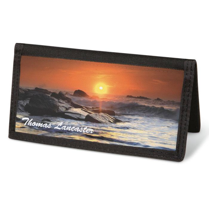 Dramatic Shores  Checkbook Cover - Personalized