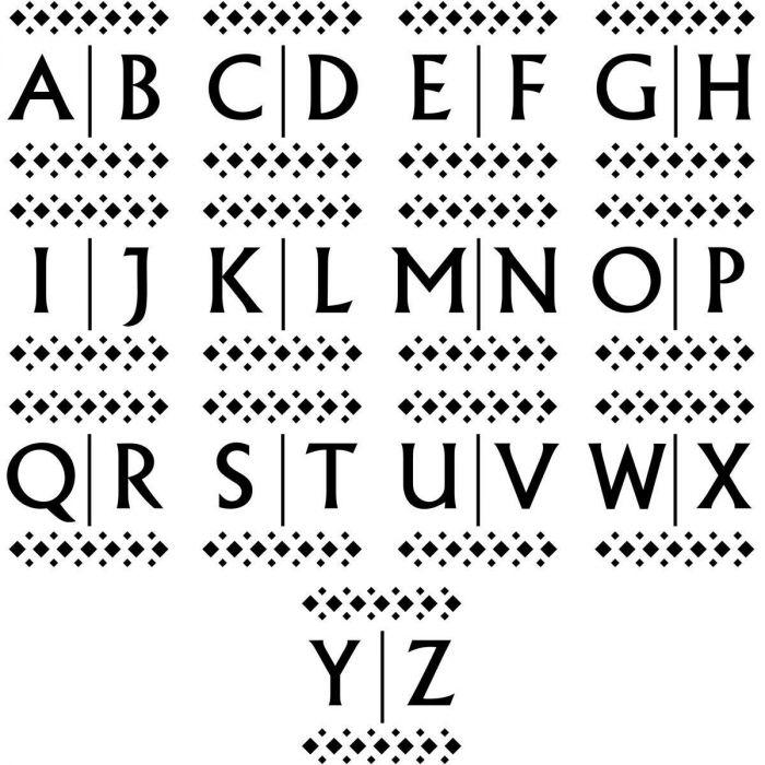 Diamond Initial Square Stamper