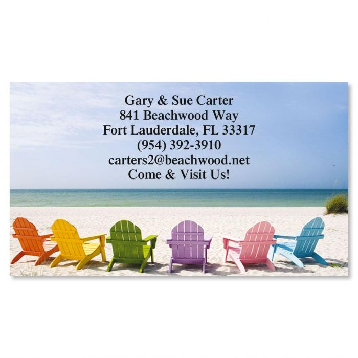 Tropical View Standard Calling Cards