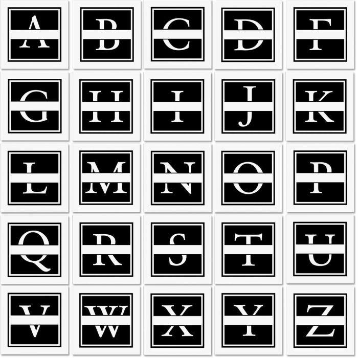 Front & Center Square Address Stamper