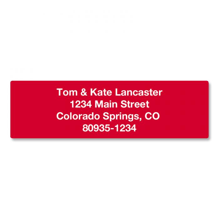 Solid Color Designer Rolled Address Labels - (Roll of 500)