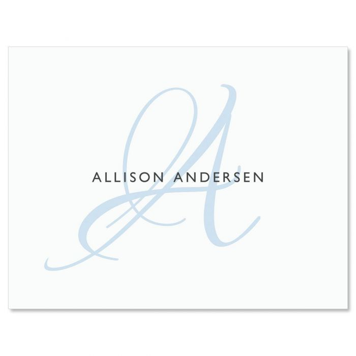 Simply Initial Personalized Note Cards