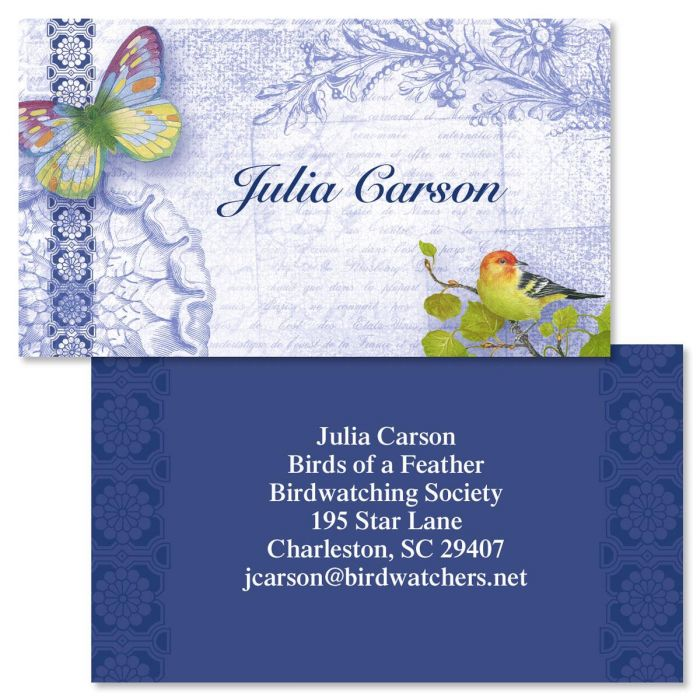 Exotic Prints Double-Sided Business Cards
