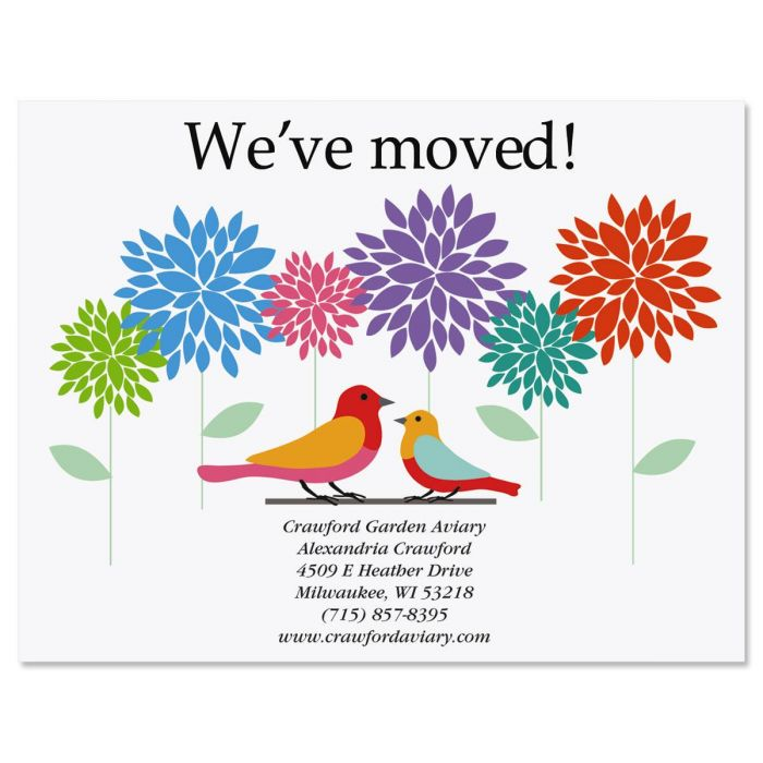 Sweet And Simple Moving New Address Postcards