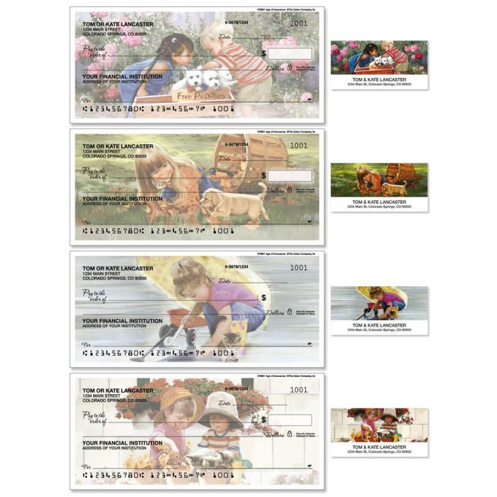 Age of Innocence Single Checks with Matching Address Labels