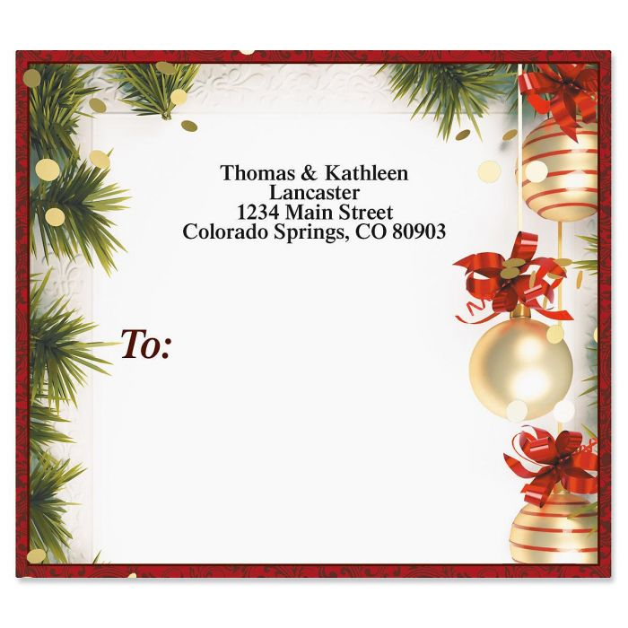 Christmas Twilight Mailing Package Label