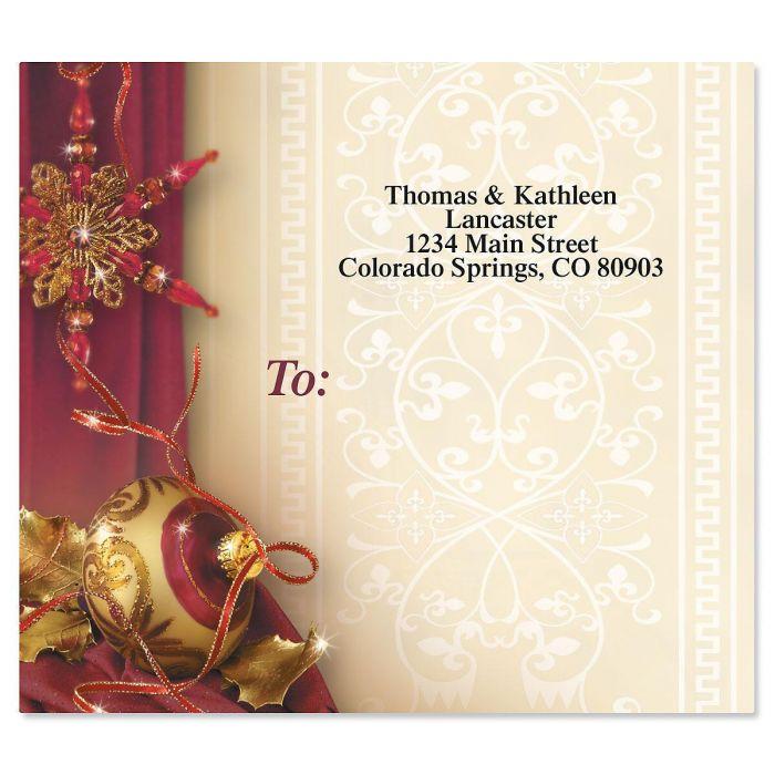Glittering Garnets Mailing Package Label