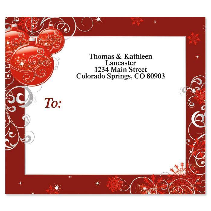 Scarlet Elegance Mailing Package Label