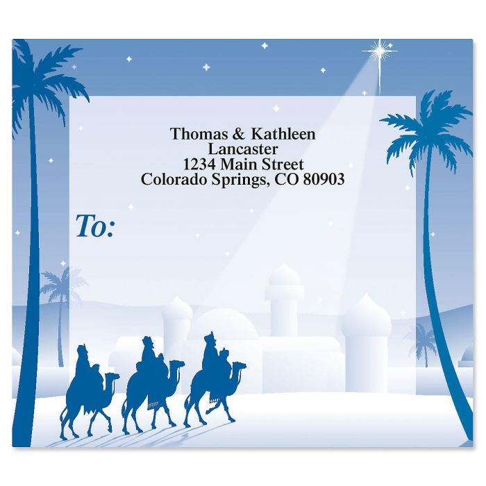 Wise Men Mailing Package Label