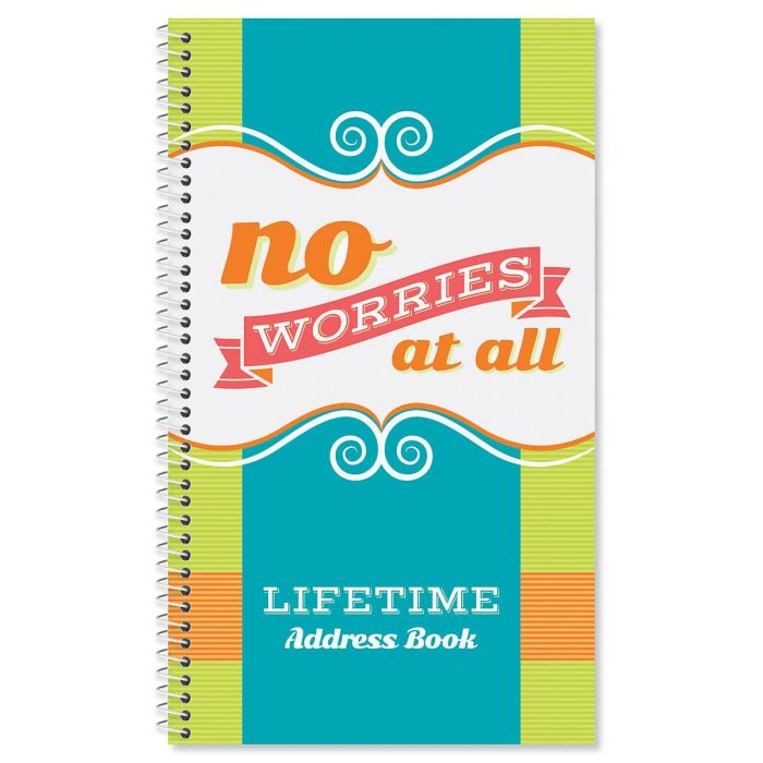 Think Happy Lifetime Address Book