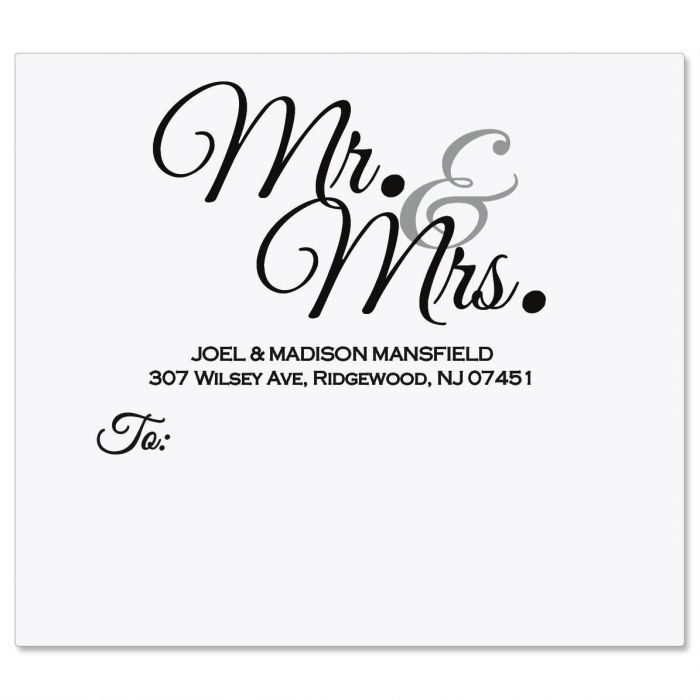 Mr & Mrs Mailing Package Label