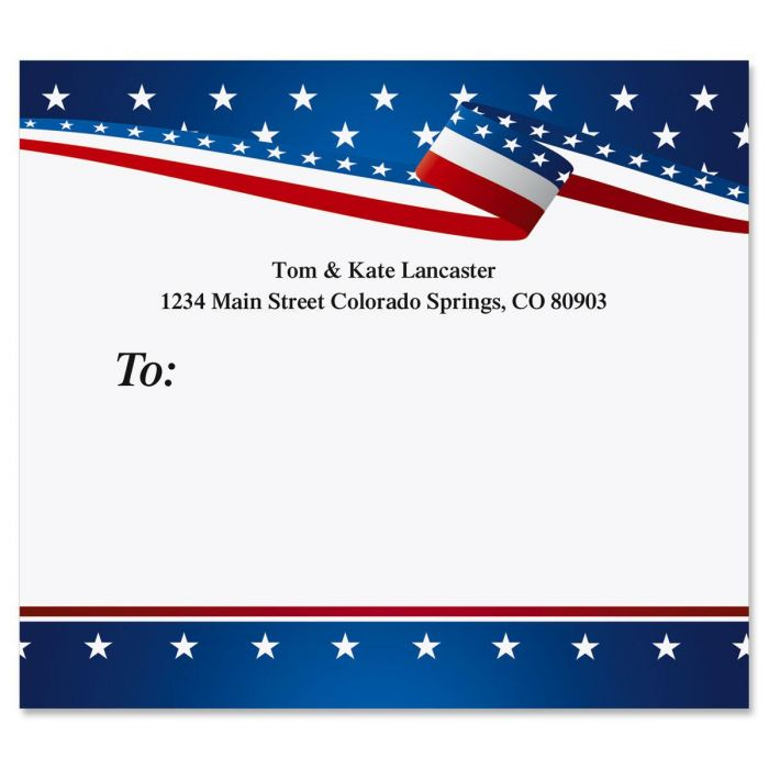 USA Proud Mailing Package Label