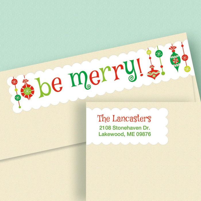 Be Merry Wrap Around Address Labels