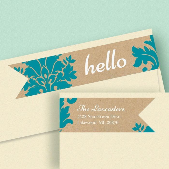 Salutations Connect Wrap Around Diecut Address Labels