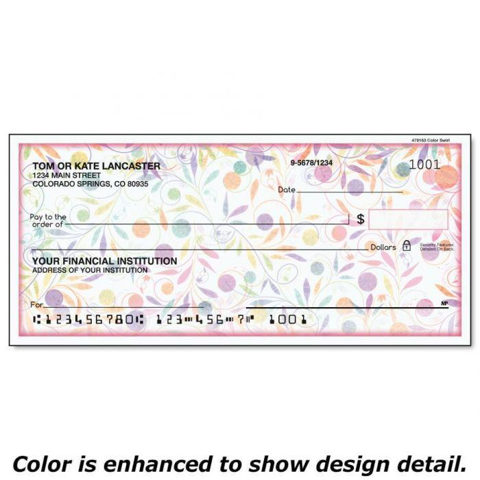 Color Swirl Checks