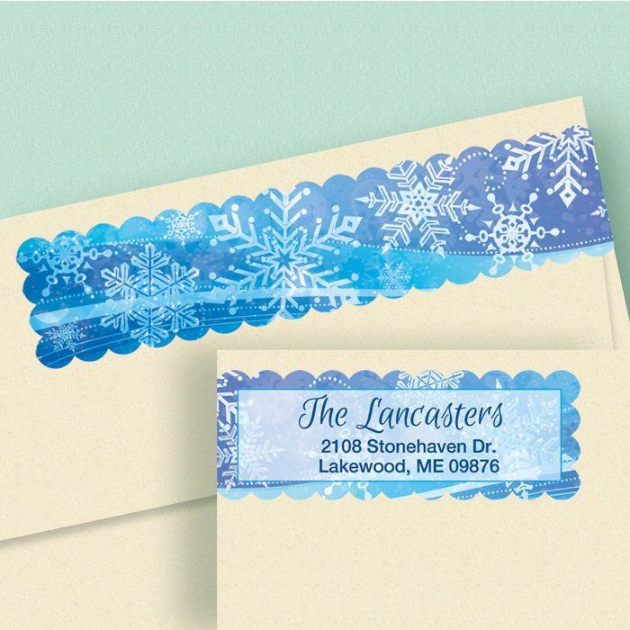 Snowflake Connect Wrap Around Diecut Address Labels