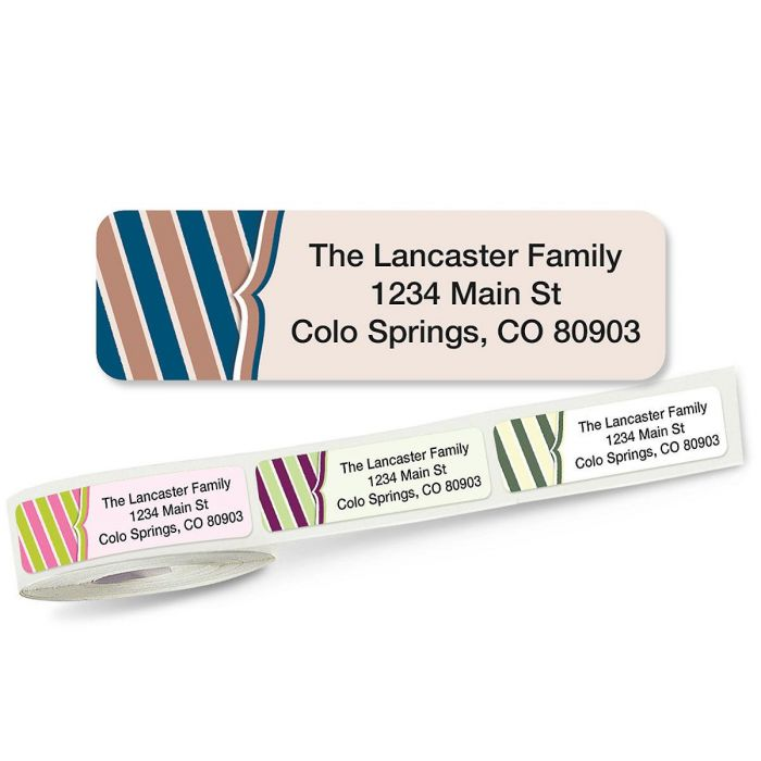Charming Rolled Address Labels  (5 Designs)