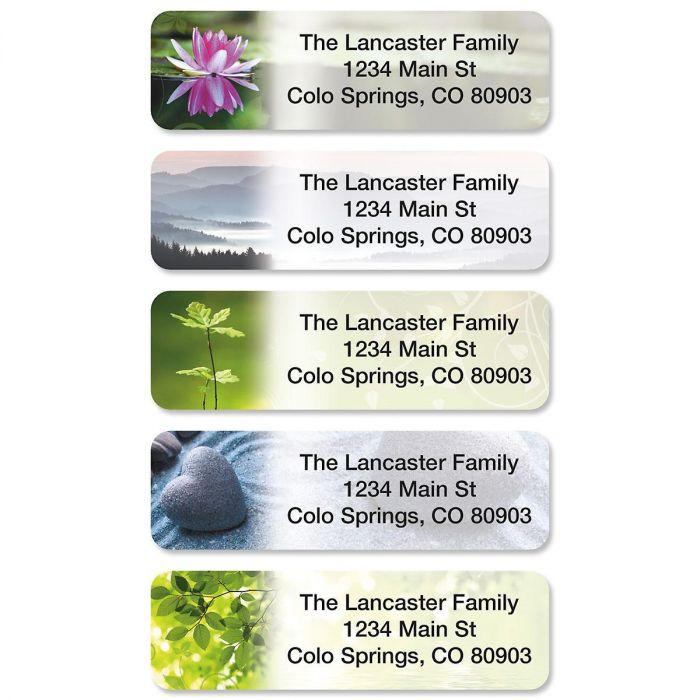 Zen Rolled Address Labels  (5 Designs)
