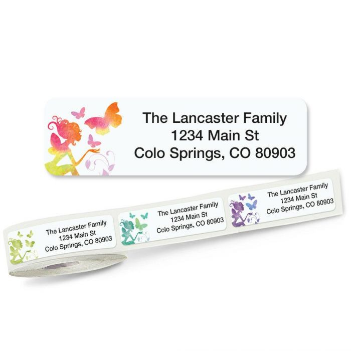 Fairy Rolled Address Labels  (5 Designs)