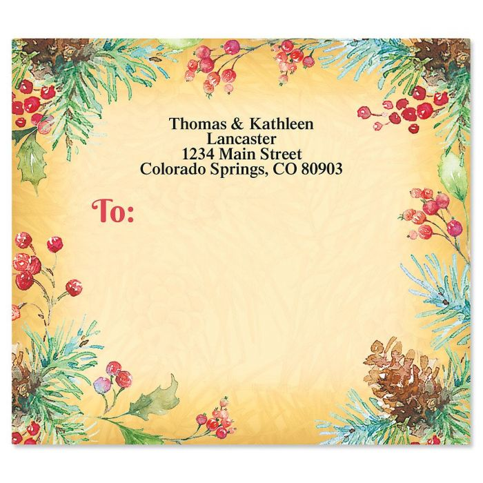Botanical Joy Mailing Package Label
