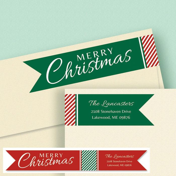 Holiday Connect Wrap Around Diecut Address Labels