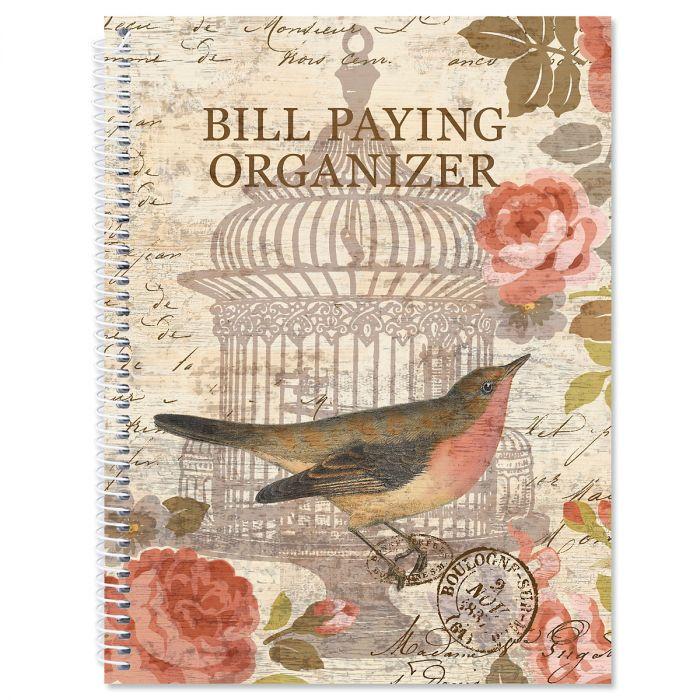 Parisian Postcard Bill Paying Organizer