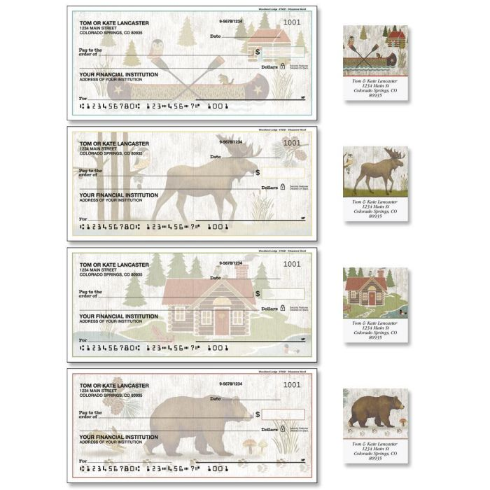 Woodland Lodge Duplicate Checks with Matching Labels