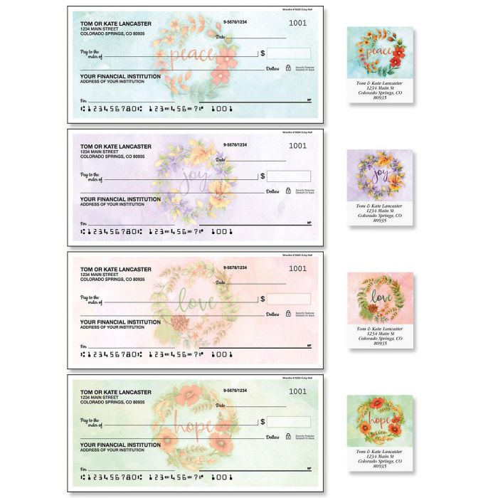 Wreaths Duplicate Checks with Matching Labels
