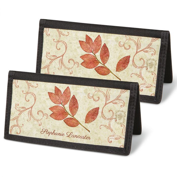 Fallen Leaves Checkbook Covers