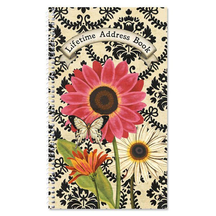 French Sunflower Lifetime Address Book
