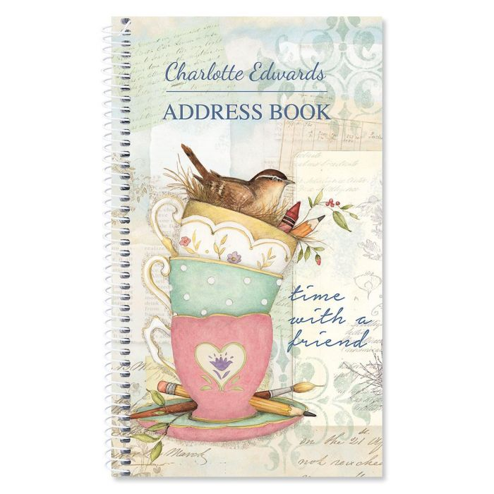 Teacup Personalized Lifetime Address Book