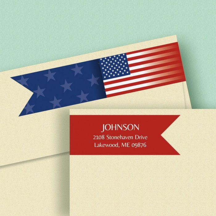 Flag Connect Wrap Around Diecut Address Labels