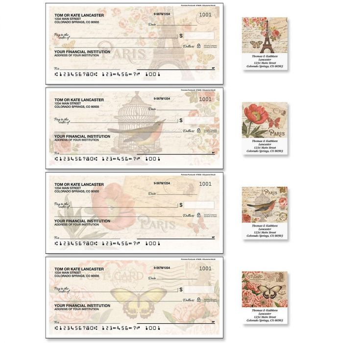 Parisian Postcard Duplicate Checks with Matching Labels