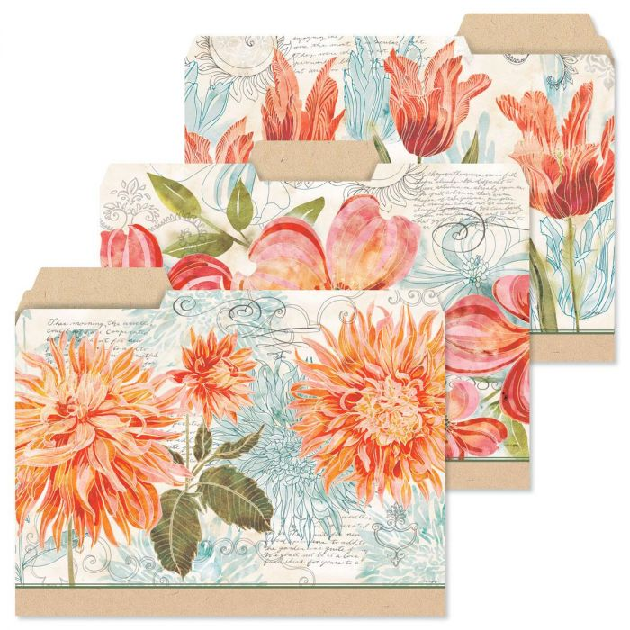Floral Daydream File Folders