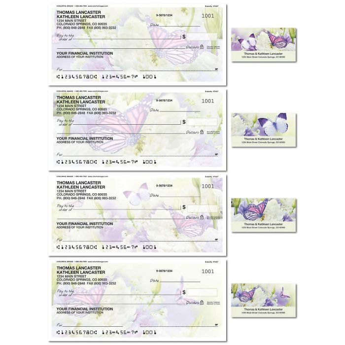 Butterfly Single Checks with Matching Labels