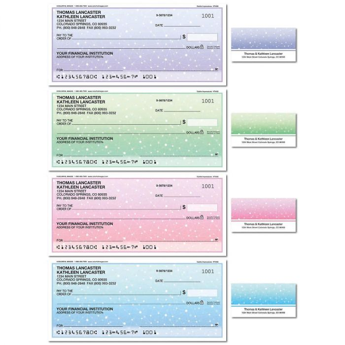 Subtle Impressions Duplicate Checks with Matching Labels