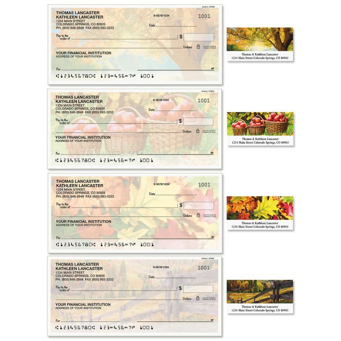 Autumn Single Checks with Matching Labels