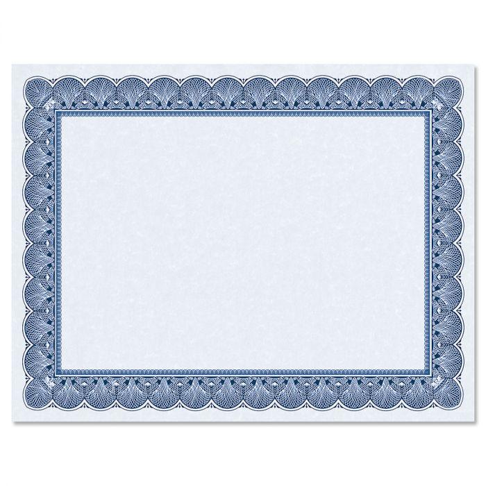 Elite Blue Certificate on Blue Parchment - Set of 50