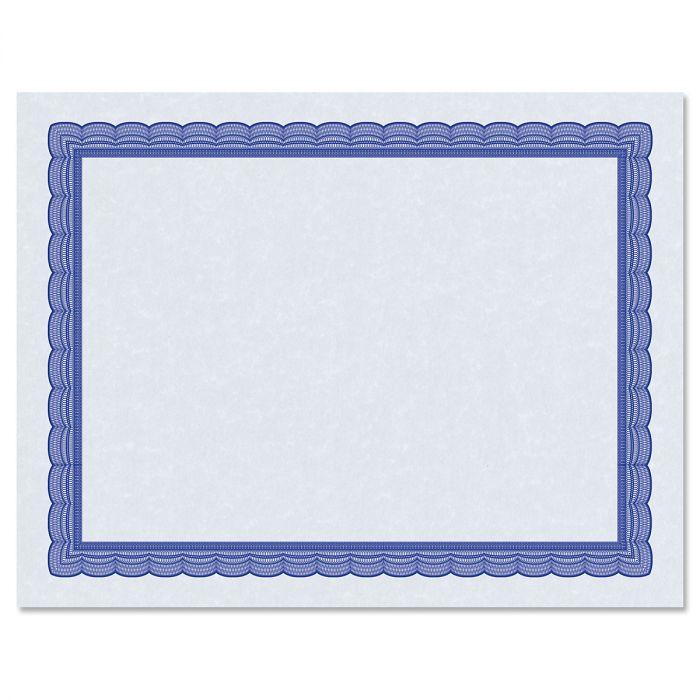 Executive Blue Certificate on Blue Parchment