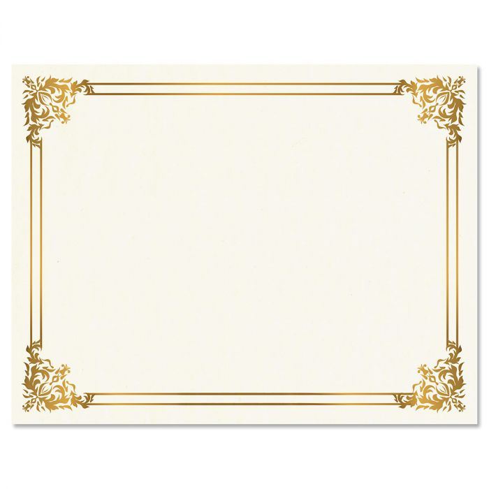 Empire Gold Certificate on White Parchment - Set of 100