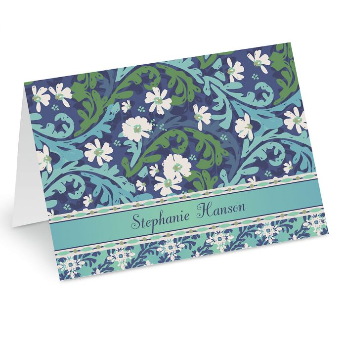 Cool Serenity Personalized Note Cards