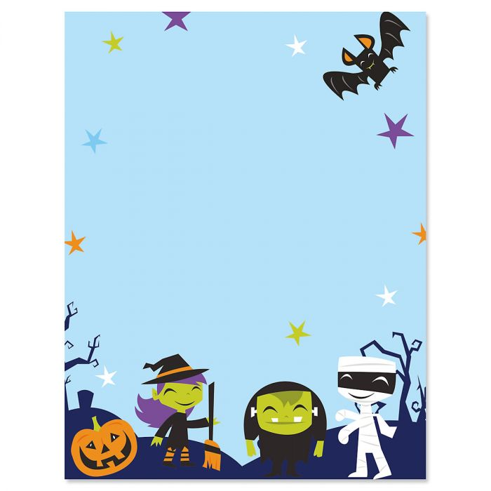 Monster Squad Halloween Letter Papers