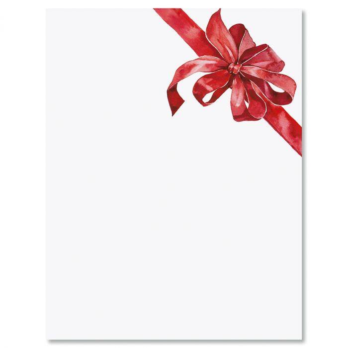 Tied with a Bow Christmas Letter Papers