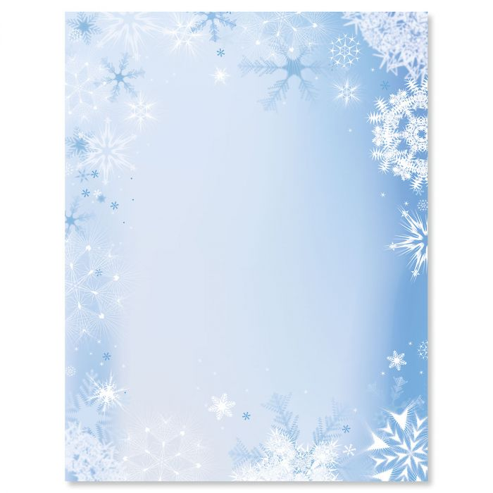 Snowfall & Flakes Christmas Letter Papers