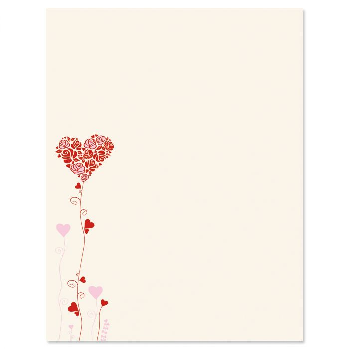 Seeds of Love Valentine's Day Letter Papers