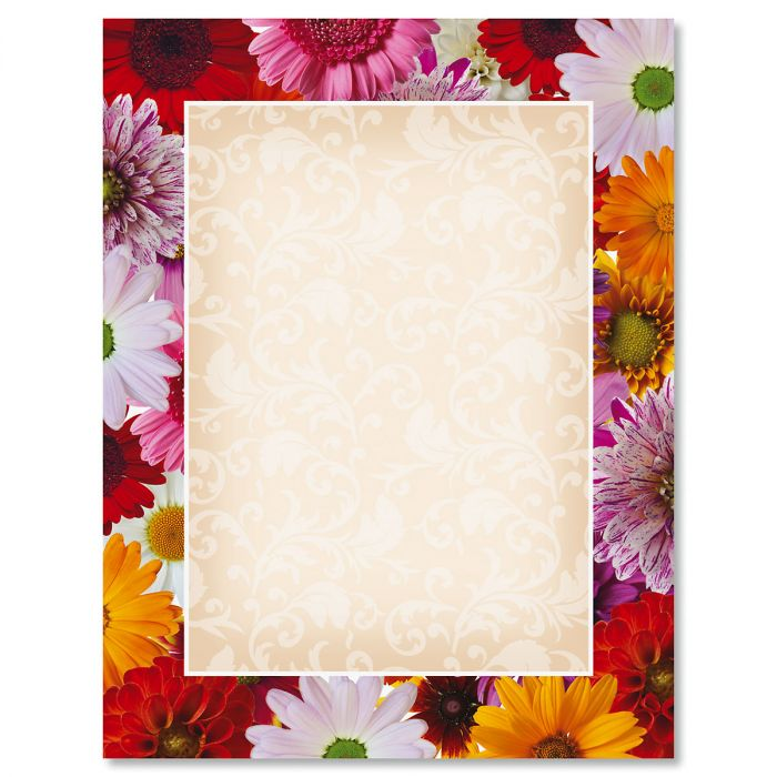 Daisy Frame Letter Papers