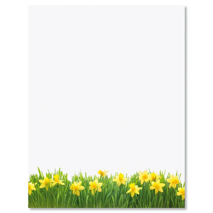 Daffodils Easter Letter Papers