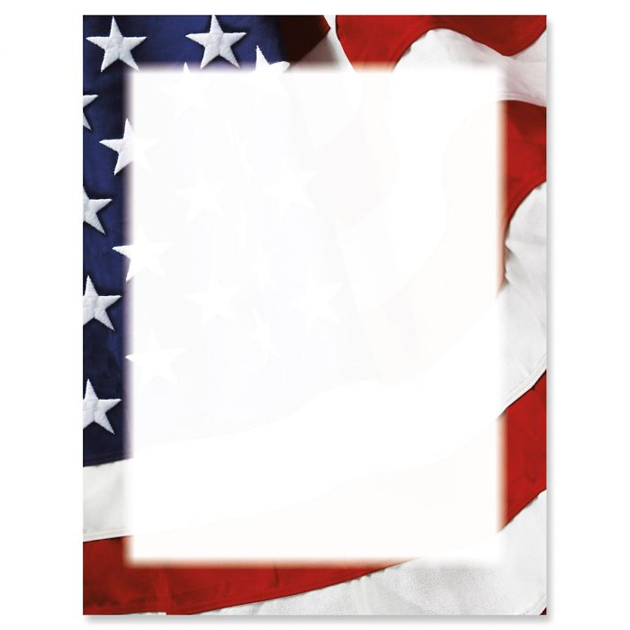 Grand Ol' Flag Patriotic Letter Papers